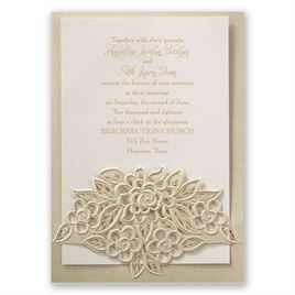 Freshly Cut Flowers - Laser Cut Invitation