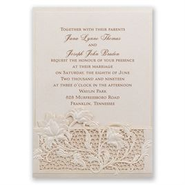 Garden Gate - Laser Cut Invitation