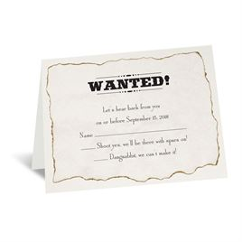 Wanted! - Response Card and Envelope