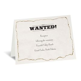 Wanted! - Reception Card