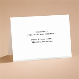 Love Revealed - Reception Card