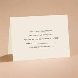 Ecru Shimmer - Respond Card and Envelope