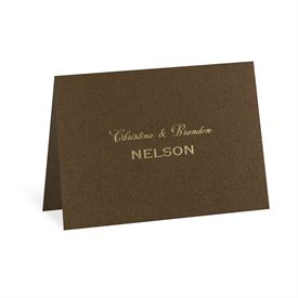 Brown Shimmer - Foil Note Card and Envelope