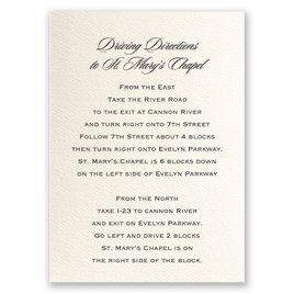 Wedding Map Cards: Ecru Direction Card Vertical