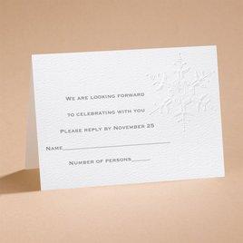 "Winter""s Elegance - Respond Card and Envelope"