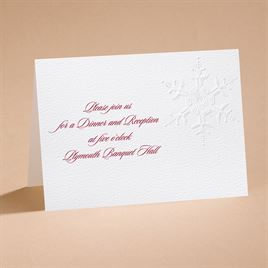 "Winter""s Elegance - Reception Card"