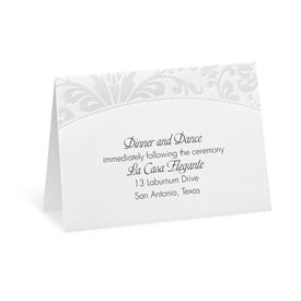 Pearl Flourish - Reception Card
