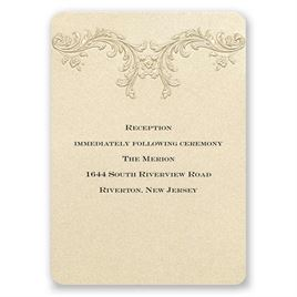 Golden Vintage - Reception Card