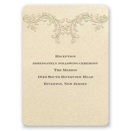 Golden Vintage - Reception Card