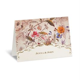 Antique Floral - Thank You Card