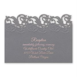 Rolling Vines - Foil and Laser Cut Reception Card