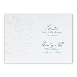 Glistening Wreath - Reception Card