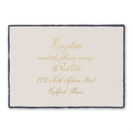 Feathered Edge - Foil Reception Card