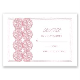 Lacy Accent - Response Card and Envelope