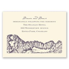 Watercolor Mountain - Ecru - Reception Card