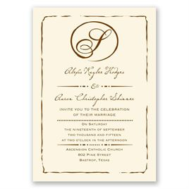 Black Wedding Invitations: 