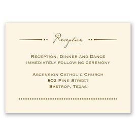 Initial Inspiration - Ecru - Reception Card
