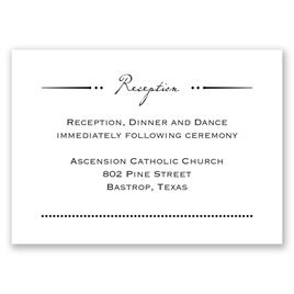 Initial Inspiration - Reception Card