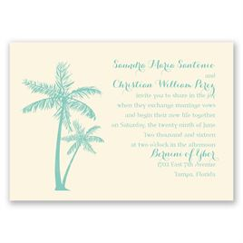 Beach Wedding Invitations: 