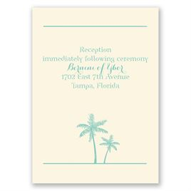 Dream Destination - Ecru - Reception Card