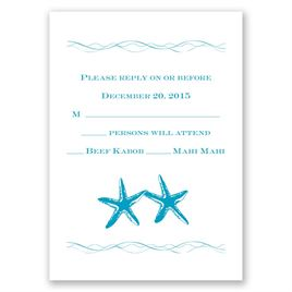 Sweet Starfish - Response Card and Envelope