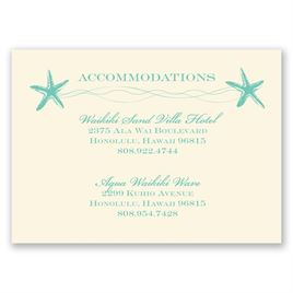Sweet Starfish - Ecru - Accommodations Card