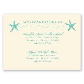 Sweet Starfish - Ecru - Accommodations Card
