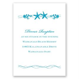 Sweet Starfish - Reception Card