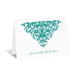 Dramatic Damask - Note Card and Envelope