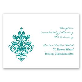 Dramatic Damask - Reception Card