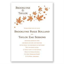 Burnt Orange Wedding Invitations: 