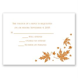 Graceful Leaves - Response Card and Envelope