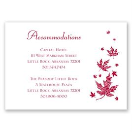 Graceful Leaves - Accommodations Card
