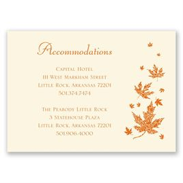 Graceful Leaves - Ecru - Accommodations Card