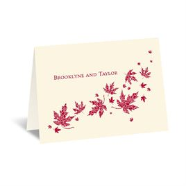 Graceful Leaves - Ecru - Thank You Card