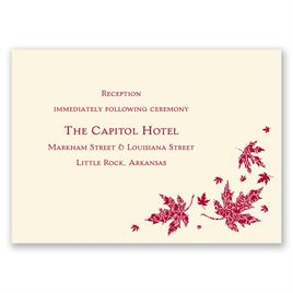 Graceful Leaves - Ecru - Reception Card