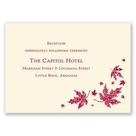 Graceful Leaves - Ecru - Reception Card