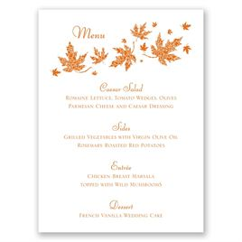 Graceful Leaves - Menu Card