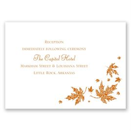 Graceful Leaves - Reception Card