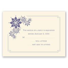 Snowflake Fantasy - Ecru - Response Card