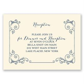 Sweet Sentiment - Ecru - Reception Card