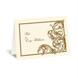 Vintage Thank You Cards: Fine Filigree - Thank You Card