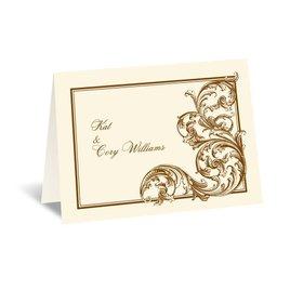 Fine Filigree - Ecru - Thank You Card