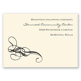 Fancy Flourishes - Ecru - Reception Card