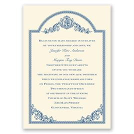 Vintage Victorian - Ecru - Invitation