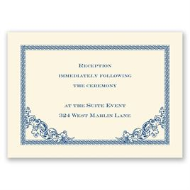 Vintage Victorian - Ecru - Reception Card
