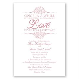 Fairy Tale Love - Invitation