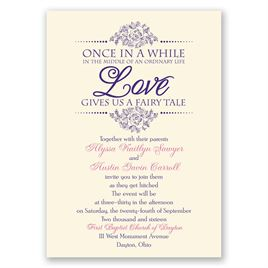 Typography Wedding Invitations: 
