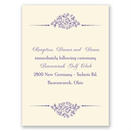 Fairy Tale Love - Ecru - Reception Card