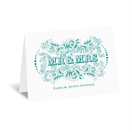 Vintage Vows - Note Card and Envelope
